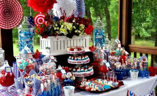 Patriotic 4th Of July Decorations Amp Table Centerpieces Fftk